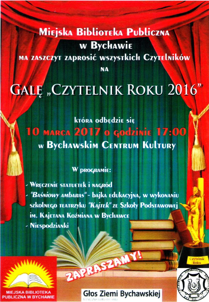 Plakat Gala Czytelnika Roku 2016_1